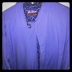 Van Hausen Blue Button Down Shirt